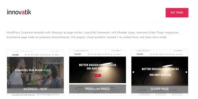 Innovatik - Corporate WordPress Theme - Creative WP - Business WP