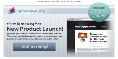 Innovative - Product Tour HTML Email Template