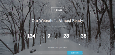 inTime - Responsive Coming Soon Template