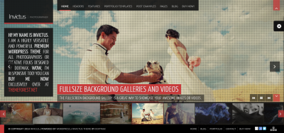 Invictus - A Fullscreen Photography WordPress Theme