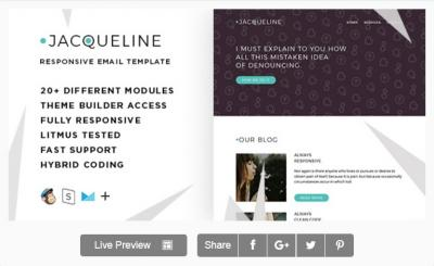 Jacq – Responsive Email + StampReady Builder