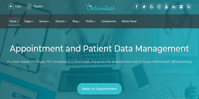Klinikal - Appointment & Patient Data Management Responsive Web Application