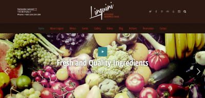 Linguini: Restaurant Responsive WordPress Theme