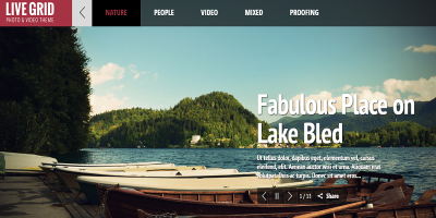 LIVE GRID - Responsive Interactive HTML Portfolio