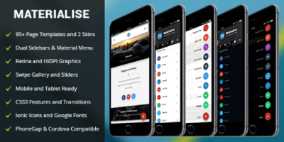 Materialise Mobile - Mobile Template