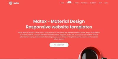 Matex - Material Megapack Multi-Purpose HTML5 Template