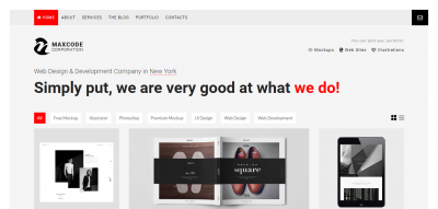 MAXCODE - AJAX Portfolio & Agency WordPress Theme