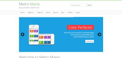Metro Mania - No.1 Metro Bootstrap Theme