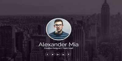 Mia - One Page Personal vCard