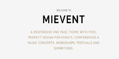Mievent - Multipurpose Joomla Event & Music Theme