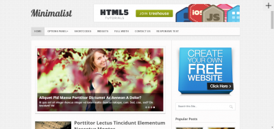Minimalist - Minimal WordPress Blog Theme