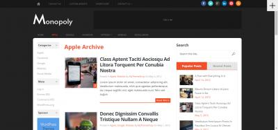 Monopoly  - Sleek & Dual-Sidebar WordPress Theme