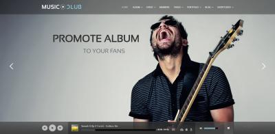 Music Club - Music/Band/Club/Party Wordpress Theme