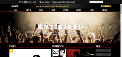 Music-nation - Responsive Dark Template