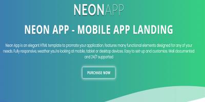Neon - Responsive App Landing Page