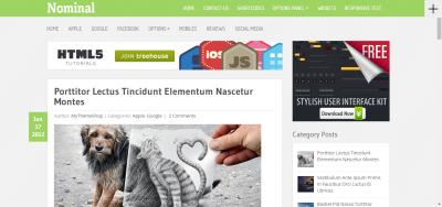 Nominal - WordPress Blog Theme