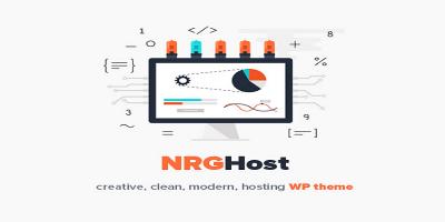 NRGHost - Flat Web Hosting WordPress Theme + WHMCS