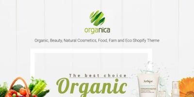Organica - Beauty, Natural Cosmetics, Food, Farn, Eco, Organic Shopify Theme - Sections Ready
