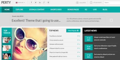 Perty - Responsive News/Magazine Joomla Template