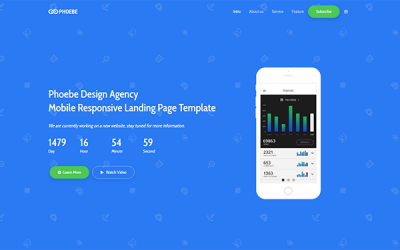 Phoebe - Responsive Coming Soon Page
