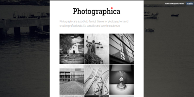 Photographica - Portfolio Tumblr Theme