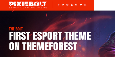 PixieBolt - eSports Gaming Theme For Clans & Organizations