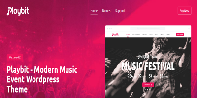 Playbit - Music Oriented WordPress Theme
