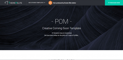 POM - Creative Coming Soon Template