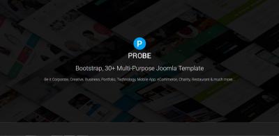 Probe - Responsive Multi-Purpose Joomla Theme With Page Builder