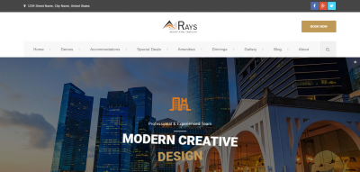 Rays- Multipurpose Booking & Payment System Theme