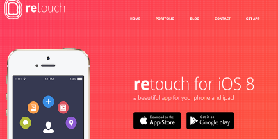 ReTouch App - App HTML Template