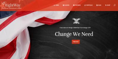 Right Way - Politics & Activism Site Template