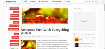 Sensational - Magazine WordPress Theme
