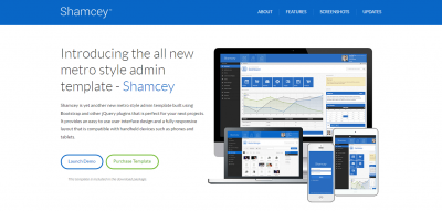 Shamcey Metro Style Admin Template