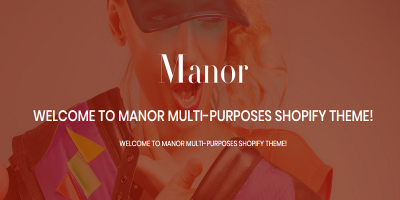 Shopify - Manor Clean, Minimal , Drag & Drop