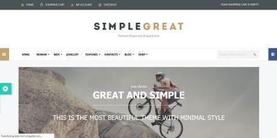 SimpleGreat - Drupal Commerce Theme