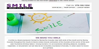 SMILE - Responsive + Business + Mailchimp E-mail