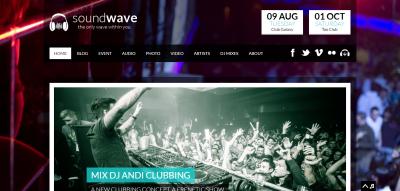 SoundWave - The Music Vibe WordPress Theme