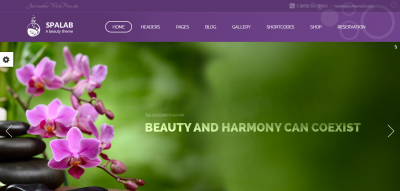 Spa Lab - Beauty Salon WordPress Theme