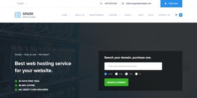Spark - Responsive WHMCS Hosting WordPress Theme