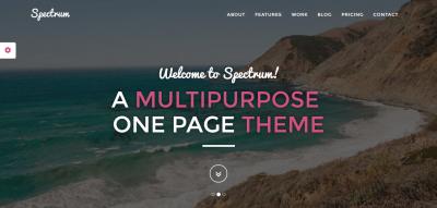 Spectrum - Multipurpose Parallax Theme