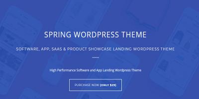 Spring – Software and App Landing WordPress Theme