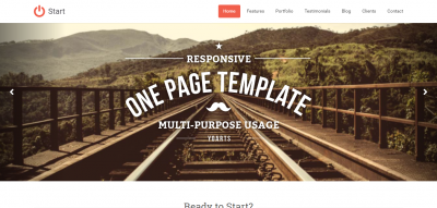 Start - Responsive One Page Template