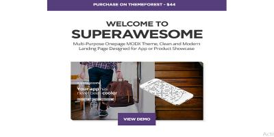 Superawesome - Responsive Multi-Purpose MODx Theme
