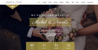 Sweetheart Responsive Wedding Template