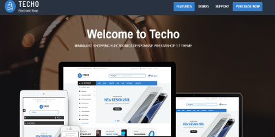 Techo - Minimalist Shopping Electronics Responsive Prestashop 1.7 Theme