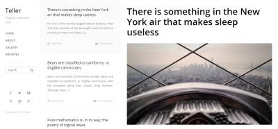 Teller - Responsive Blog WordPress Theme