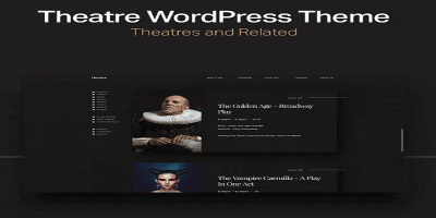 Theatre WP - Art, Culture & Entertainment WordPress Theme
