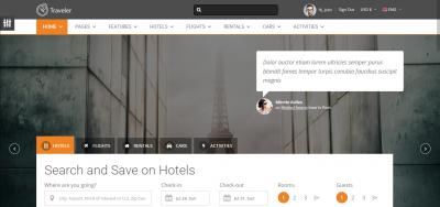 Traveler - Multipurpose Booking Template