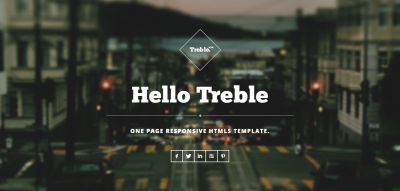 Treble - One Page Responsive Theme